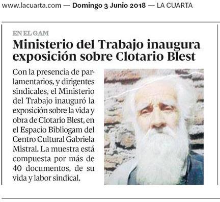 Ministerio del Trabajo inaugura exposición sobre Clotario Blest ...